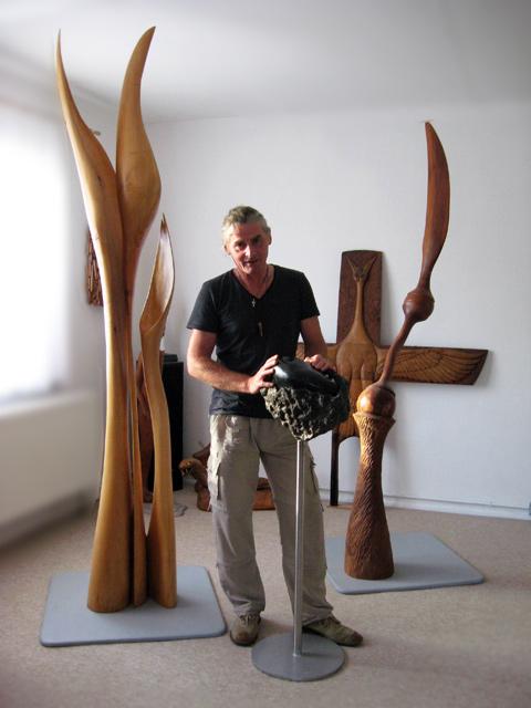 Matzi Müller, auf Kap Arkona, mit weiteren Arbeiten.